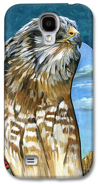 Shamanism Galaxy S4 Cases - Brother Hawk Galaxy S4 Case by J W Baker