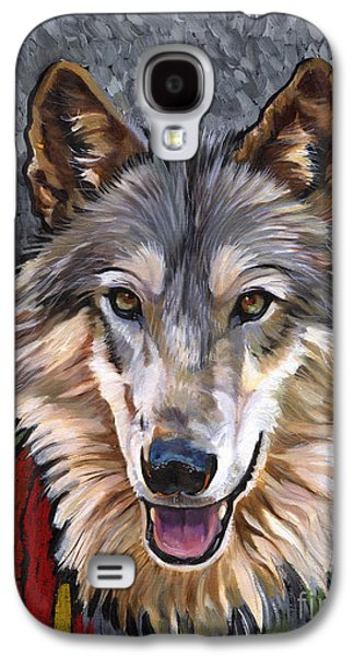 Shamanism Galaxy S4 Cases - Brother Wolf Galaxy S4 Case by J W Baker