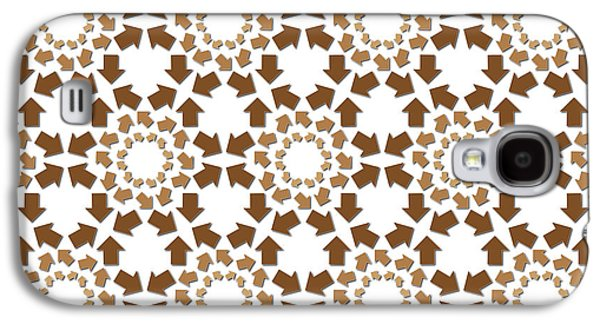 Concept Tapestries - Textiles Galaxy S4 Cases - Brown Arrows Pattern Galaxy S4 Case by Jozef Jankola