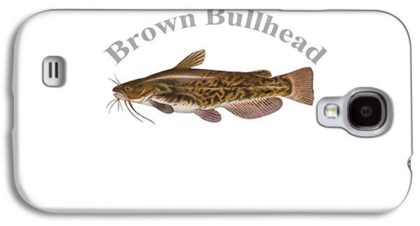 Gamefish Drawings Galaxy S4 Cases - Brown Bullhead Fish by Dehner Galaxy S4 Case by T Shirts R Us -