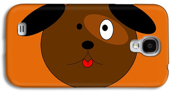 Puppy Digital Art Galaxy S4 Cases - Brown Puppy Galaxy S4 Case by Joanne Elizabeth