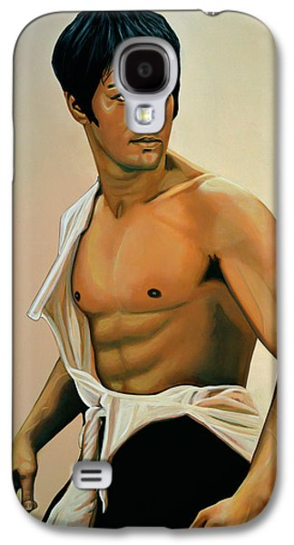 Bruce Lee Painting Galaxy S4 Case by Paul Meijering