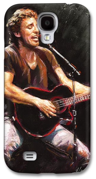 Musicians Galaxy S4 Cases - Bruce Springsteen  Galaxy S4 Case by Ylli Haruni