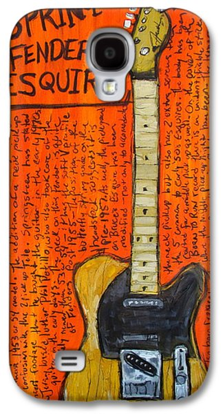 Rock N Roll Paintings Galaxy S4 Cases - Bruce Springsteens Fender Esquire Galaxy S4 Case by Karl Haglund