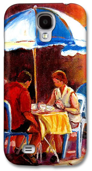 Streethockey Paintings Galaxy S4 Cases - Brunch At The Ritz Galaxy S4 Case by Carole Spandau