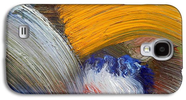 Coasting Galaxy S4 Cases - Brush Strokes Galaxy S4 Case by Michal Boubin
