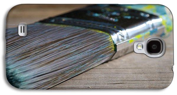 Home Improvement Galaxy S4 Cases - Brush Work Galaxy S4 Case by Lisa Knechtel