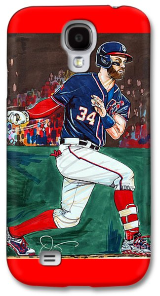 Espn Galaxy S4 Cases - Bryce Harper Galaxy S4 Case by Dave Olsen
