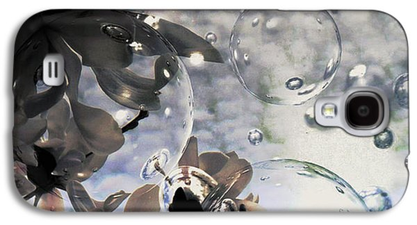 Nature Abstracts Galaxy S4 Cases - Bubbles and Flowers Galaxy S4 Case by Marnie Malone