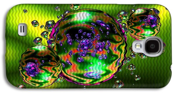 Abstract Digital Pastels Galaxy S4 Cases - Bubbliana Catus 2 no. 3 H b Galaxy S4 Case by Gert J Rheeders