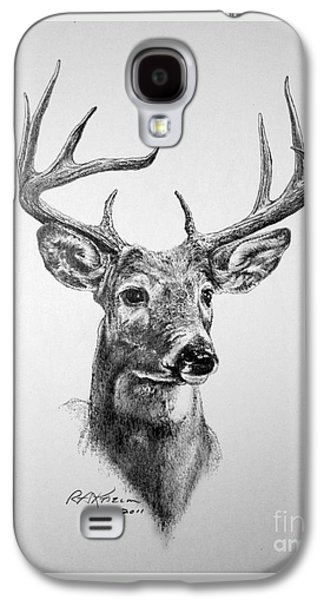 Nature Study Drawings Galaxy S4 Cases - Buck Deer Galaxy S4 Case by Roy Kaelin