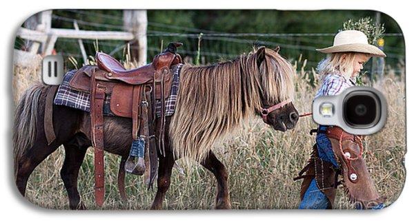 Country Dirt Roads Galaxy S4 Cases - Buckaroo Cowgirl Galaxy S4 Case by Cindy Singleton