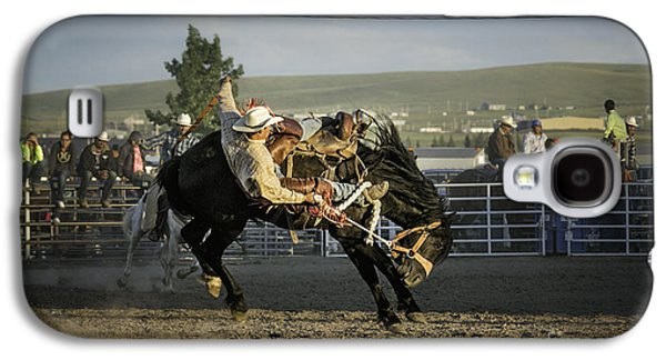 Studio Photographs Galaxy S4 Cases - Bucking Bronco 2 Galaxy S4 Case by Timothy Hacker