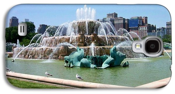 Chicago Galaxy S4 Cases - Buckingham Fountain Galaxy S4 Case by Anita Burgermeister