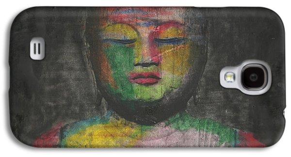 Buddhist Monk Galaxy S4 Cases - Buddha Encaustic Painting Galaxy S4 Case by Edward Fielding