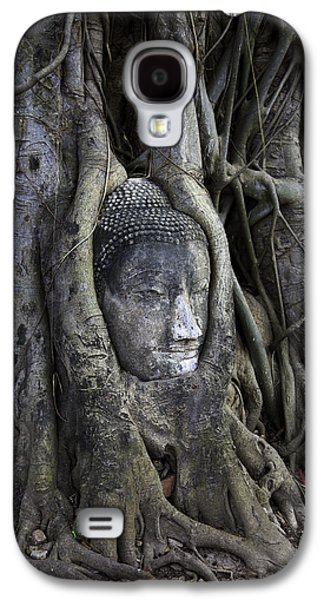Root Galaxy S4 Cases - Buddha Head in Tree Galaxy S4 Case by Adrian Evans