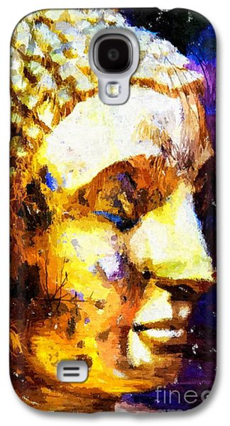 Statue Portrait Mixed Media Galaxy S4 Cases - Buddha Immersion Galaxy S4 Case by Khalil Houri