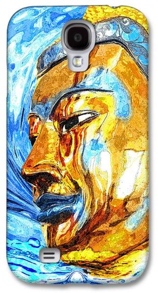 Statue Portrait Mixed Media Galaxy S4 Cases - Buddha Surf Galaxy S4 Case by Khalil Houri