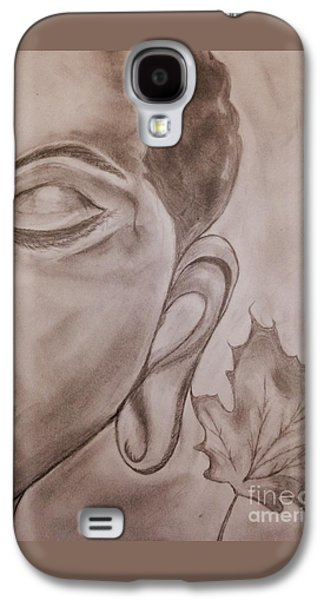 Religious Drawings Galaxy S4 Cases - Buddhas Leaf Galaxy S4 Case by Navroz  Raje