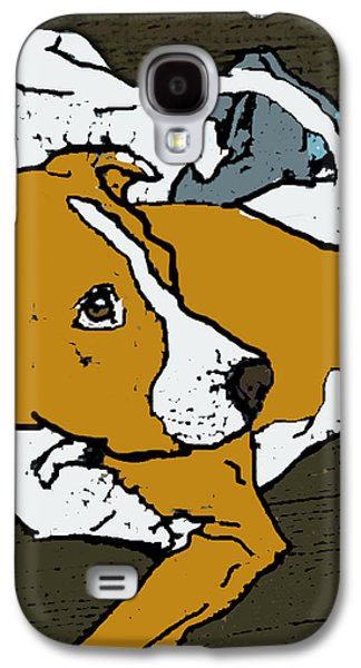 Recently Sold -  - Dogs Digital Galaxy S4 Cases - Buddy Pilllow Galaxy S4 Case by TK Harris