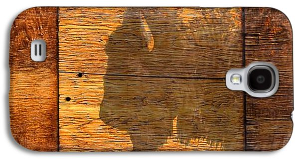 Bison Digital Art Galaxy S4 Cases - Buffalo and wood panels Galaxy S4 Case by Steve Pidcock