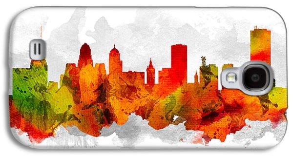 Buffalo Digital Galaxy S4 Cases - Buffalo New York Cityscape 15 Galaxy S4 Case by Aged Pixel