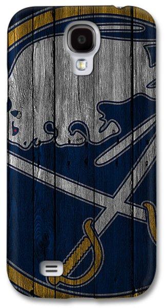 Buffalo Sabres Wood Fence Galaxy S4 Case by Joe Hamilton