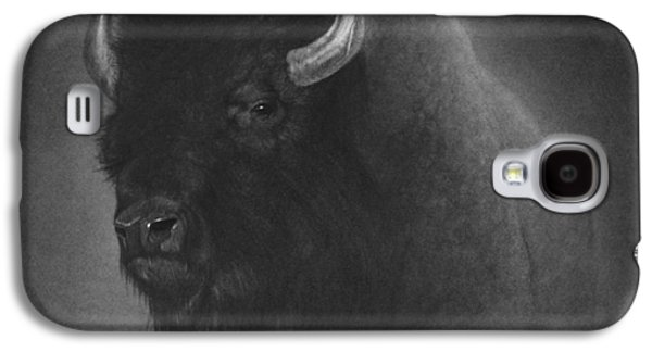 Bison Drawings Galaxy S4 Cases - Buffalo Galaxy S4 Case by Tim Dangaran