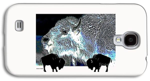 Bison Digital Galaxy S4 Cases - Buffalos In Silhouette Galaxy S4 Case by Sharon K Shubert