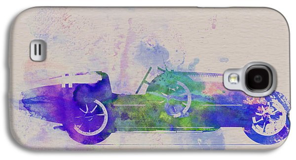 Old Car Drawings Galaxy S4 Cases - Bugatti Type 35 R Watercolor 2 Galaxy S4 Case by Naxart Studio