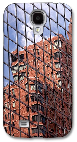 Blue Abstracts Galaxy S4 Cases - Building reflection Galaxy S4 Case by Tony Cordoza