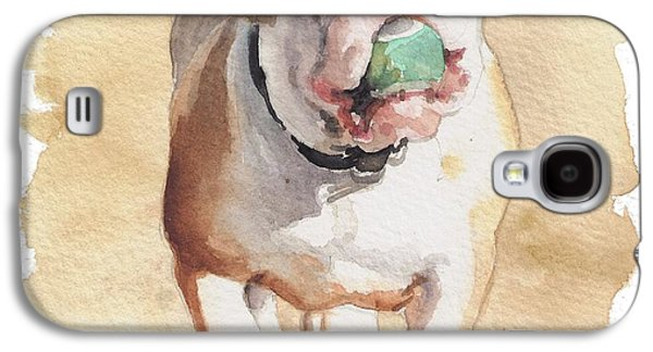 English Galaxy S4 Cases - Bull and Ball Galaxy S4 Case by Debra Jones