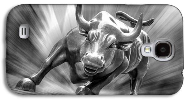 Bulls Digital Art Galaxy S4 Cases - Bull Market Galaxy S4 Case by Az Jackson