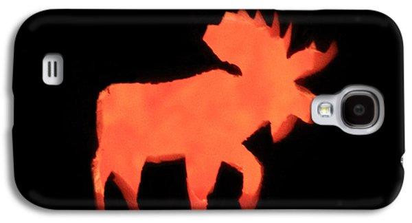 Jacko Galaxy S4 Cases - Bull Moose Pumpkin Galaxy S4 Case by Lloyd Alexander