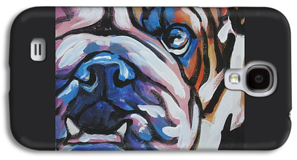 Puppies Galaxy S4 Cases - Bulldog Baby Galaxy S4 Case by Lea