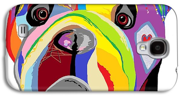 Puppies Digital Galaxy S4 Cases - Bulldog Galaxy S4 Case by Eloise Schneider