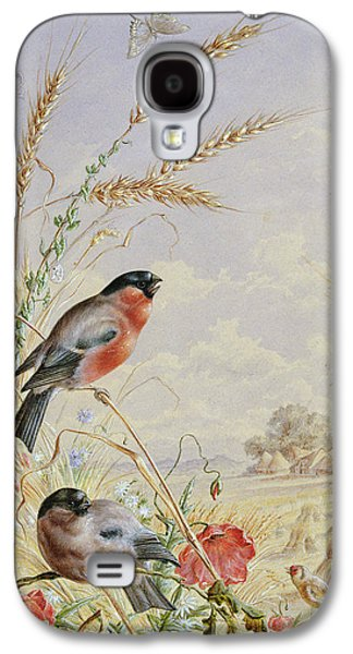 Bullfinches In A Harvest Field Galaxy S4 Case by Harry Bright