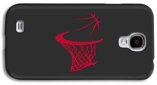 Chicago Bulls Galaxy S4 Cases - Bulls Basketball Hoop Galaxy S4 Case by Joe Hamilton