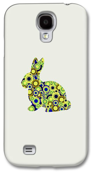 Girl Galaxy S4 Cases - Bunny - Animal Art Galaxy S4 Case by Anastasiya Malakhova