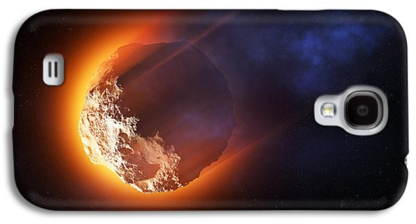 Burning Asteroid Entering The Atmoshere Galaxy S4 Case by Johan Swanepoel