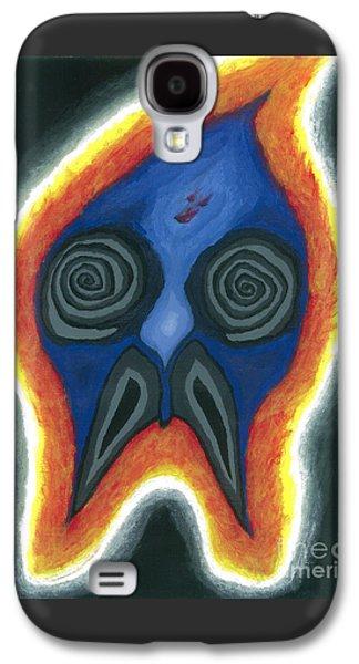 Angels Smoking Galaxy S4 Cases - Burning Man Galaxy S4 Case by Caleb Grow