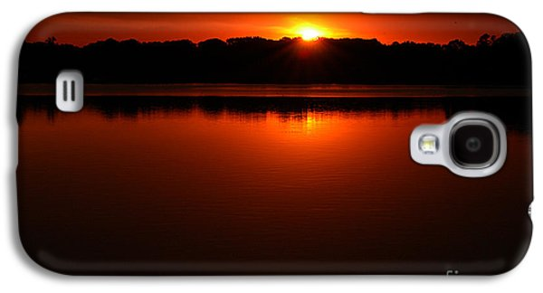 Burned Clay Galaxy S4 Cases - Burnt Orange Sunset On Water Galaxy S4 Case by Clayton Bruster
