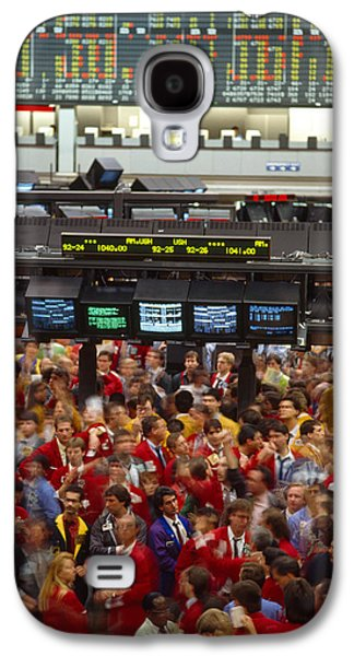 Business Galaxy S4 Cases - Business Executives On Trading Floor Galaxy S4 Case by Panoramic Images