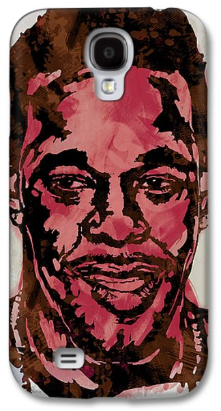 Wide Receiver Galaxy S4 Cases - Busta Rhymes Pop Stylised Art Sketch Poster Galaxy S4 Case by Kim Wang
