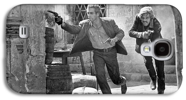 Original Photographs Galaxy S4 Cases - Butch Cassidy and the Sundance Kid - Newman and Redford Galaxy S4 Case by Nomad Art And  Design