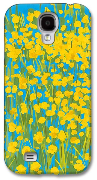 Green And Yellow Galaxy S4 Cases - Buttercups Galaxy S4 Case by Sarah Gillard