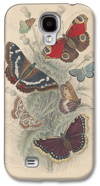 Botanical Galaxy S4 Cases - Butterflies Galaxy S4 Case by Oliver Goldsmith