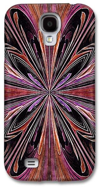 Abstract Digital Art Galaxy S4 Cases - Butterfly Art Nouveau Galaxy S4 Case by Susan Maxwell Schmidt
