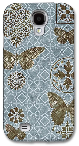 Quilt Galaxy S4 Cases - Butterfly Deco 1 Galaxy S4 Case by JQ Licensing