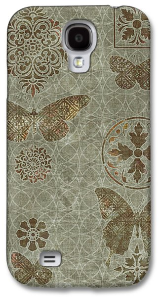 Quilt Galaxy S4 Cases - Butterfly Deco 2 Galaxy S4 Case by JQ Licensing